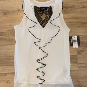 Racer back lace and ruffle top